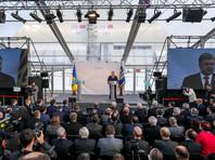 Порошенко принял участие в церемонии открытия новой арки над энергоблоком в Чернобыле