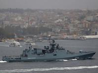 """Фрегат """"Адмирал Григорович"""" и самолеты с крейсера """"Адмирал Кузнецов"""" начали бомбить Сирию"""