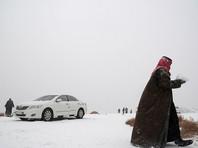 На Саудовскую Аравию обрушился снегопад