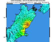 В Новой Зеландии произошло землетрясение магнитудой 7,8