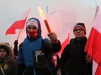 В Варшаве националисты по случаю Дня независимости сожгли флаги Facebook и Украины