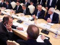 Очень большую работу проделали совместно с партнерами из Турции. Мы знаем, что совсем недавно состоялась трехсторонняя встреча в Москве министров иностранных дел России, Турции и Ирана, где все три страны взяли на себя обязательство не только по контролю, но и по гарантиям мирного процесса урегулирования в Сирийской республике