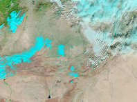 NASA опубликовало спутниковое ФОТО снега в Сахаре