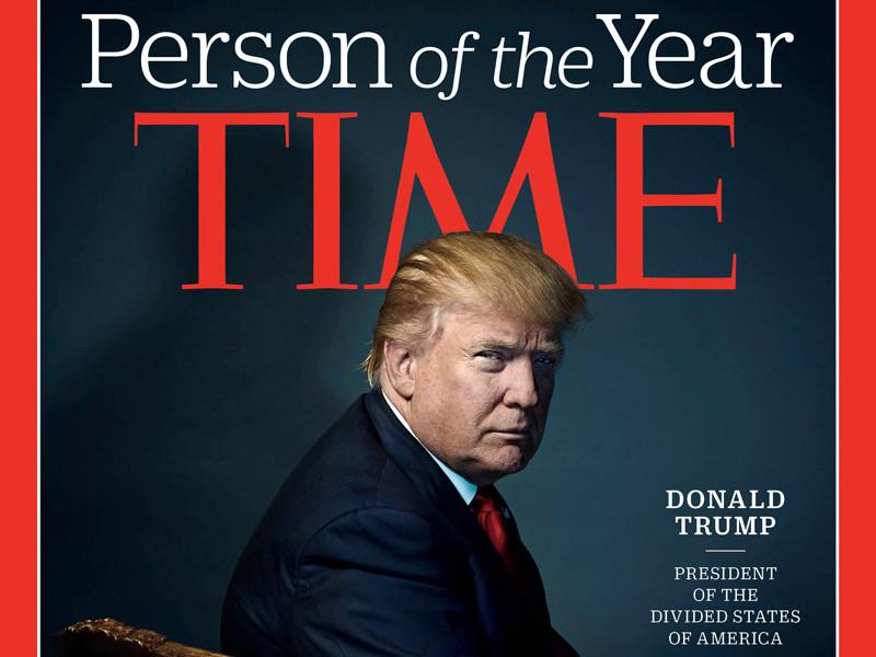 Трамп стал человеком года по версии журнала Time, а Путин оказался в шорт-листе вместе с Обамой