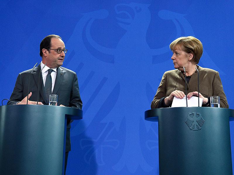 Канцлер Германии Ангела Меркель высказалась за продление экономических санкций в отношении России, принятых из-за ситуации на Украине. С аналогичной позицией выступил президент Франции Франсуа Олланд, сообщает Reuters