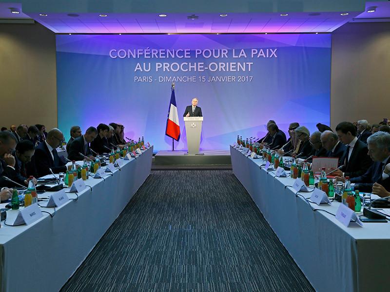 В Париже в воскресенье открылась международная конференция по мирному урегулированию палестино-израильского конфликта