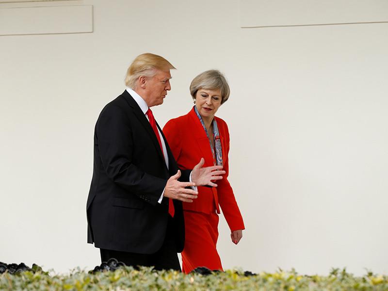 Президент США Дональд Трамп провел первую международную встречу после вступления в должность. Она состоялась с премьер-министром Великобритании Терезой Мэй