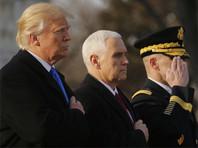 Дональд Трамп и Майк Пенс возложили венки на Арлингтонском кладбище в Вашингтоне