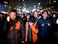В Южной Корее буддийский монах поджег себя во время протестов против президента