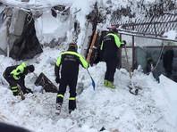 В итальянском отеле, накрытом лавиной, обнаружили восьмерых выживших