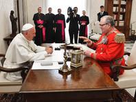 """""""Папа попросил его уйти отставку, и он согласился"""", - приводит Reuters комментарий пресс-службы Мальтийского ордена по поводу отставки великого магистра. Следующий шаг, принятие отставки суверенным советом ордена, должен быть формальностью"""