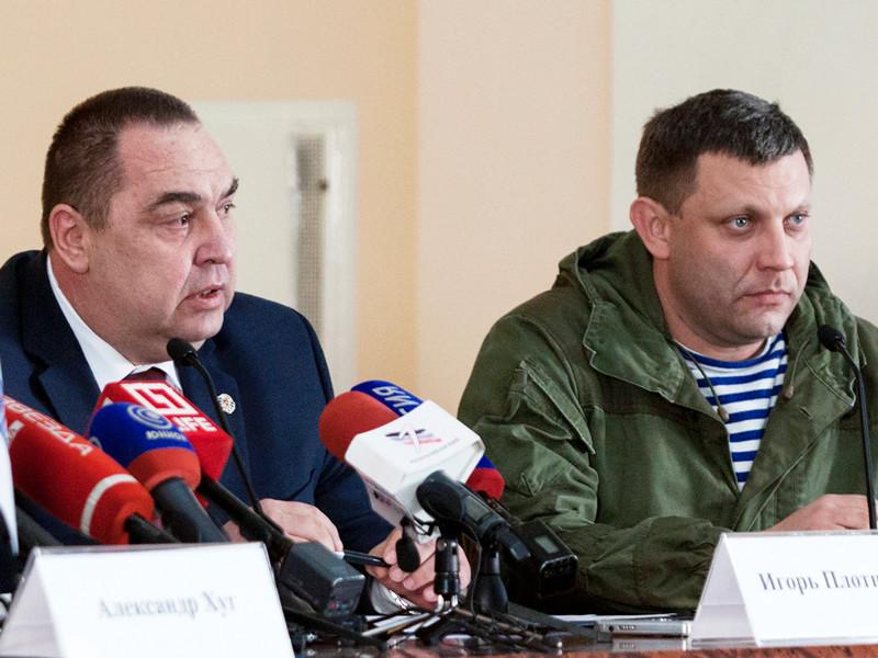 Глава Донецкой народной республики Александр Захарченко (справа) и глава Луганской народной республики Игорь Плотницкий, 17 февраля 2017 года