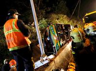 На Тайване перевернулся пассажирский автобус, погибло 32 человека