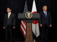 На совместной пресс-конференции с президентом США Дональдом Трампом Абэ запуск осудил, а Трамп пообещал союзнику всемерную поддержку
