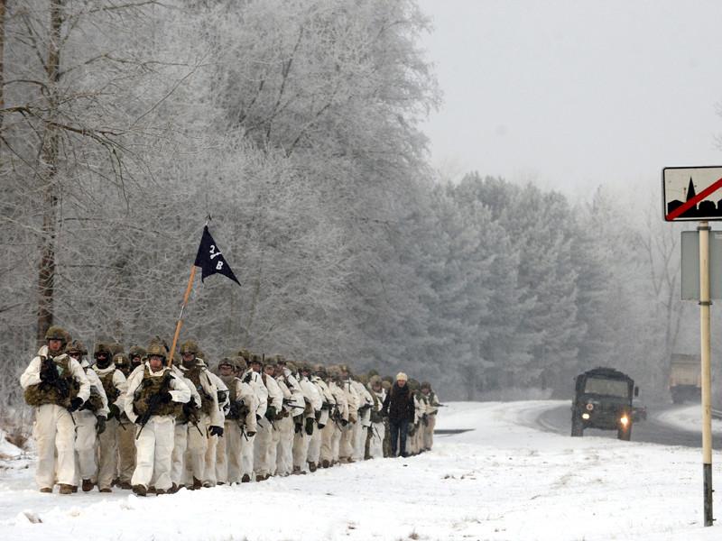 Американские военнослужащие в Нарве, 9 февраля 2017 года