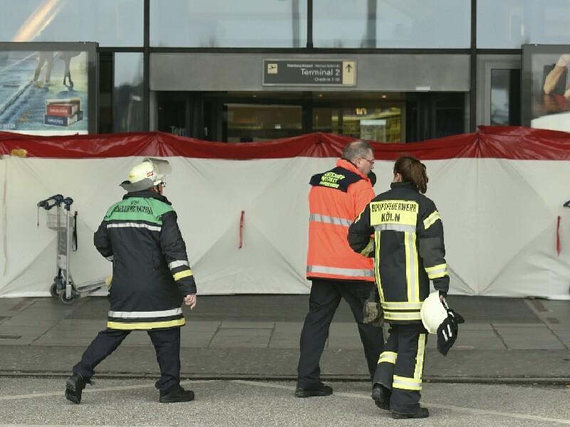 В аэропорту Гамбурга нашли емкость, в которой содержался раздражающий газ, который попал в систему вентиляции