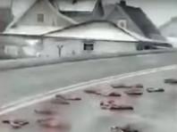 Из трейлера, ехавшего со скотобойни, случайно вывалились останки животных, покрыв участок трассы примерно в 70 метров