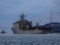 Заявление сопровождают фото прохождения корабля через пролив Босфор, соединяющий Черное и Средиземное моря