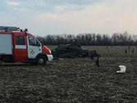 Украинский военный вертолет Ми-2 разбился под Краматорском, предположительно задев линию электропередачи