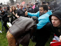 В Калифорнии подрались сторонники и противники Трампа (ВИДЕО)