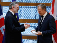 Глава Евросовета Дональд Туск в среду, 29 марта, получил от постпреда Британии в ЕС Тима Барроу письмо, подтверждающее намерение Великобритании выйти из состава Евросоюза