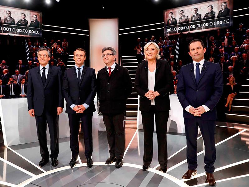 На французском телеканале TF1 в понедельник, 20 марта, состоялись первые предвыборные дебаты кандидатов в президенты страны