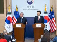 """Выступая в Сеуле на пресс-конференции, в которой также принимал участие министр иностранных дел Южной Кореи Юн Бенсе, Тиллерсон сказал: """"Разумеется, мы не хотим доводить дело до военного конфликта... Но очевидно, что если Северная Корея предпримет действия, которые будут угрожать силам Южной Кореи или нашим собственным, то ответ будет соответствующим"""""""