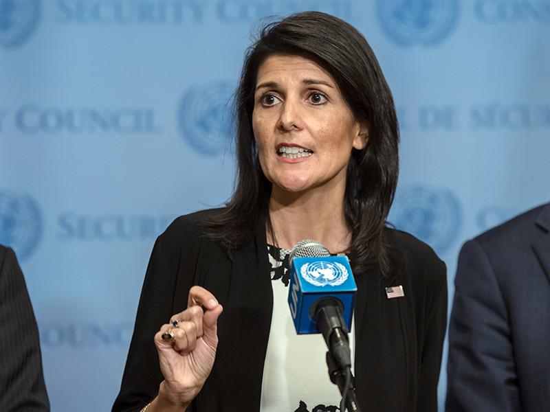 """Постоянный представитель Соединенных Штатов при ООН Никки Хейли считает, что Вашингтону не следует доверять России. """"Воспринимайте это серьезно. Мы не можем доверять России. Мы никогда не должны доверять России"""", - заявила дипломат"""
