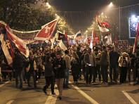 Антинатовский марш протеста в Подгорице, Черногория, декабрь 2015 года