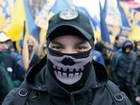 """Вход в здание Россотрудничества перед началом акции """"Тотальный диктант"""" блокировали радикалы из украинской партии """"Национальный корпус"""", созданной на базе нацбатальона """"Азов"""