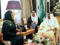 Председатель Совета Федерации Валентина Матвиенко в столице Саудовской Аравии встретилась с королем Сальманом Бен Абдель Азизом Аль Саудом в рамках официального визита в Эр-Рияд
