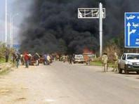 В Сирии около города Алеппо прогремел взрыв у колонны автобусов, на которых эвакуировали жителей из сирийской провинции Идлиб. Число жертв уточняется