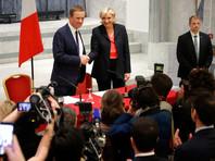 Марин Ле Пен и Николя Дюпон-Эньян, 29 апреля 2017 года