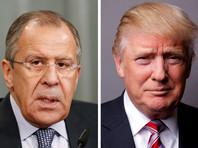 Дональд Трамп( на фото - справа) и Сергей Лавров