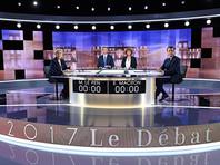 Французы стали свидетелями ожесточенных теледебатов Ле Пен и Макрона