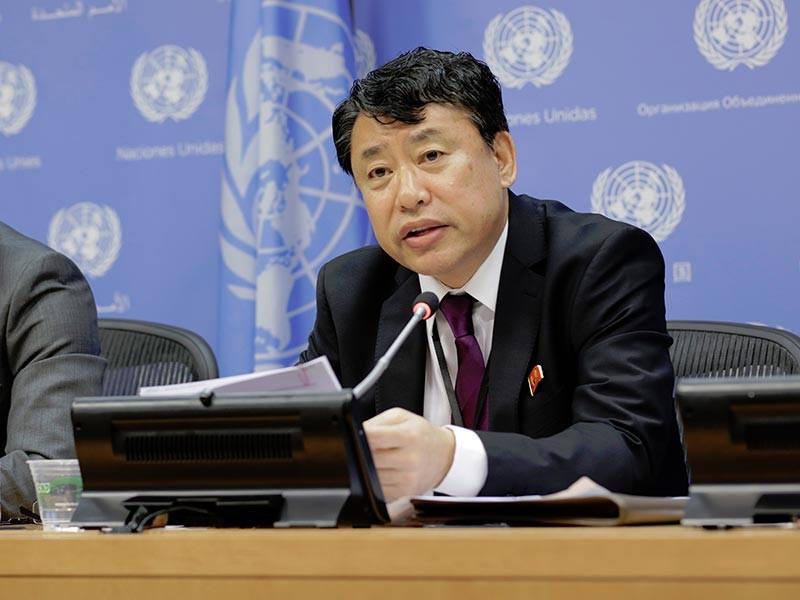 """Заместитель постоянного представителя КНДР при ООН Ким Ын Рийонг назвал """"возмутительными"""" сообщения в западной прессе о причастности руководства Северной Кореи к распространению вируса-вымогателя WannaCry"""