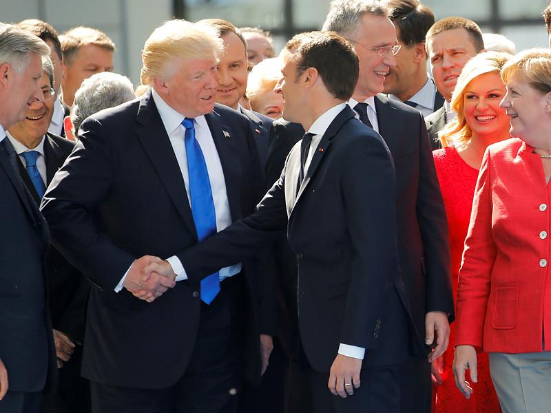 На первой встрече с Трампом Макрон попытался склонить его к борьбе с изменением климата