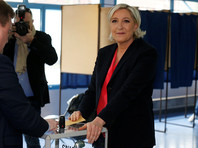 """Ле Пен, как передает """"Интерфакс"""", голосовала в городе Энен-Бомон французского департамента Па-де-Кале"""