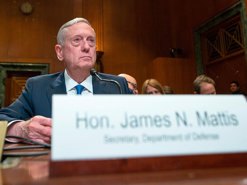 Номер личного мобильного телефона министра обороны США Джеймса Мэттиса некоторое время находился в открытом доступе