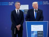 """Трамп объявил, что от России исходят угрозы для НАТО, поэтому для """"коллективной обороны"""" надо по 2% от ВВП каждой страны - члена альянса"""