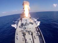 """Фрегаты """"Адмирал Эссен"""", """"Адмирал Григорович"""" и подлодка """"Краснодар"""" нанесли ракетные удары по объектам ИГ* в Сирии (ВИДЕО)"""