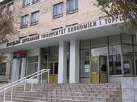 В центре Донецка обрушилось  здание Университета торговли