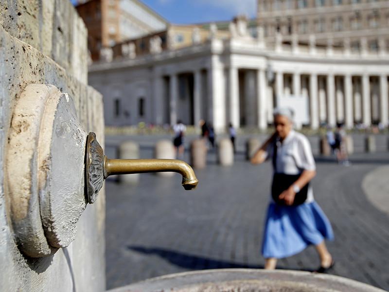 Власти Ватикана из-за проблем с водоснабжением уже выключили все фонтаны