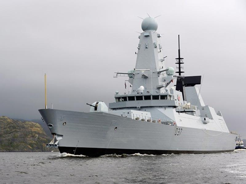 В порт Одессы сегодня, 24 июля, с визитом прибыли корабли постоянной военно-морской группы НАТО N 2 (SNMG2) - эсминец Королевских ВМС Великобритании DUNCAN (на фото) и фрегат ВМС Турции YILDIRІM