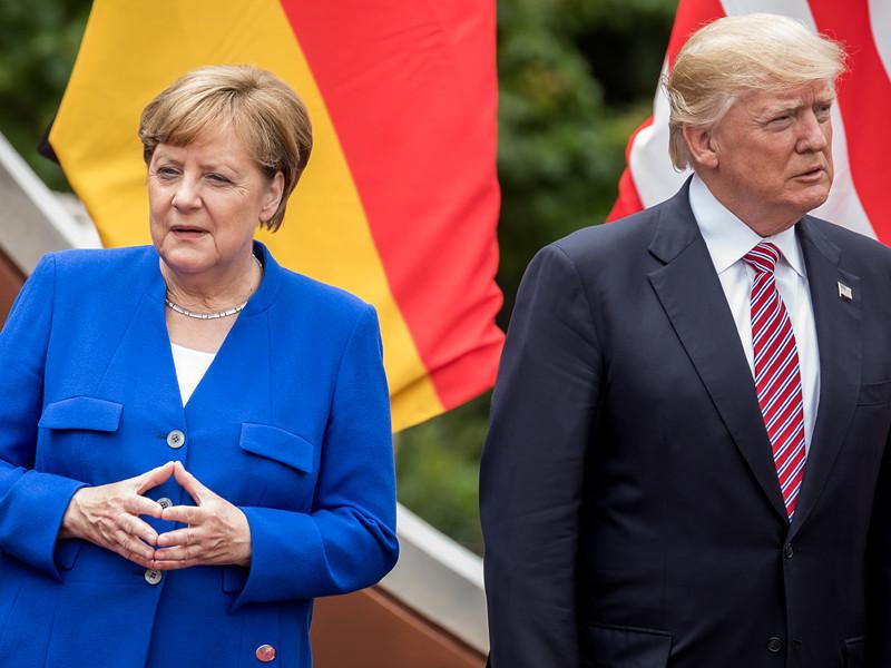 """По мнению журналистов, канцлер ФРГ Ангела Меркель хочет избежать в Гамбурге """"окончательной изоляции"""" действующего американского лидера"""