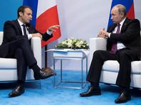Макрон извинился за опоздание на встречу с Путиным