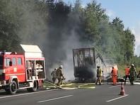 В Баварии сгорел туристический автобус, 18 пассажиров погибли