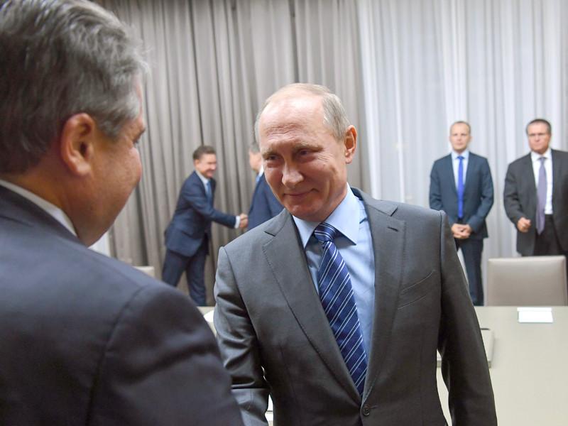Владимир Путин и Зигмар Габриэль, 21 сентября 2016 года
