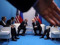 """Президент США Дональд Трамп и президент России Владимир Путин в ходе двусторонней встречи в Гамбурге 40 минут обсуждали предполагаемое вмешательство Москвы в американские выборы. Временами """"обстановка накалялась"""""""
