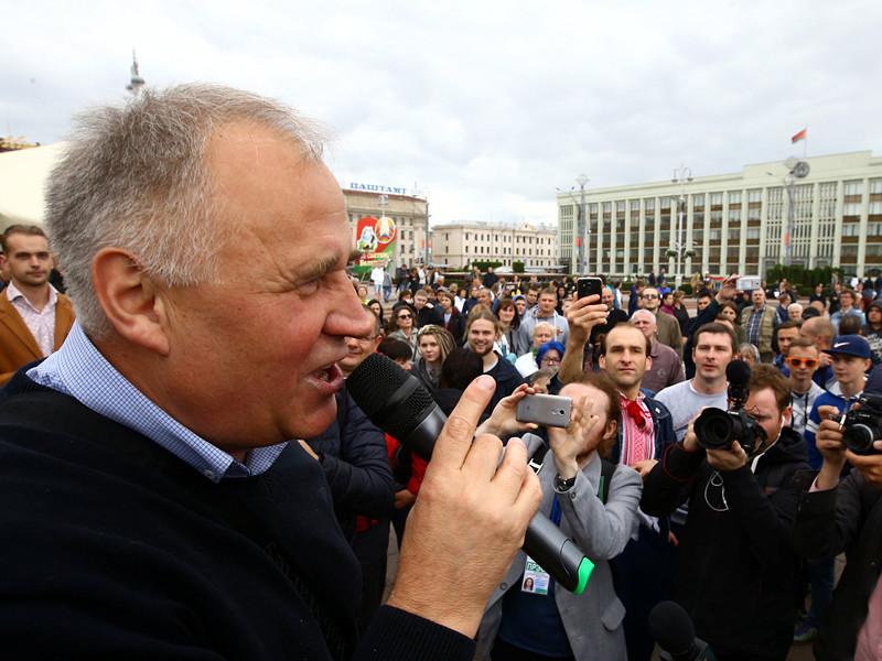 В центре Минска в День независимости Белоруссии прошла акция протеста, организованная лидером оппозиции Николаем Статкевичем
